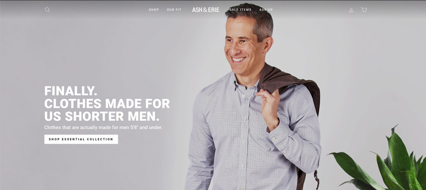 Ash & Anvil Clothing for Short Guys