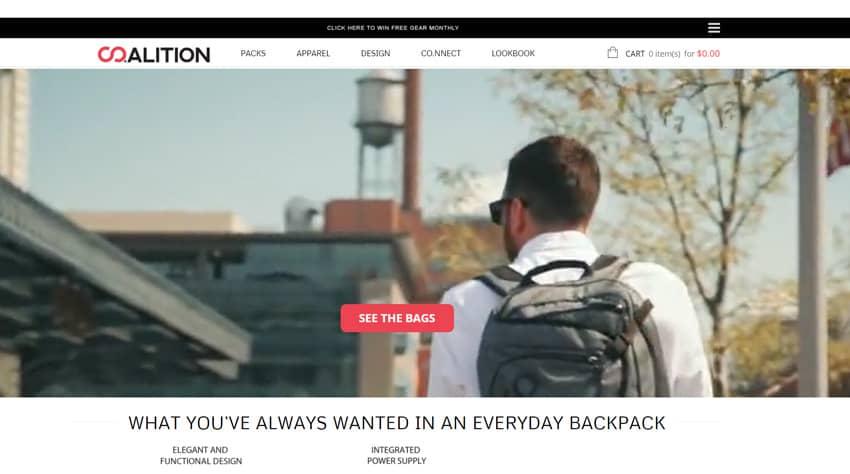 Co.alition backpacks