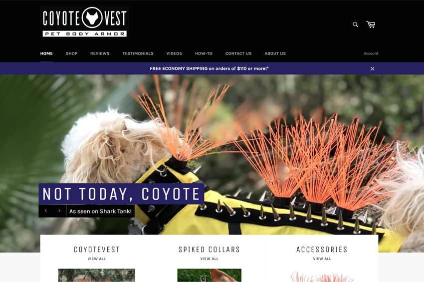 CoyoteVest Body Armor For Pets