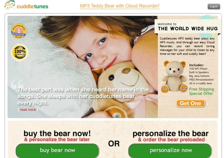 Cuddletunes MP3 Playing Teddy Bear