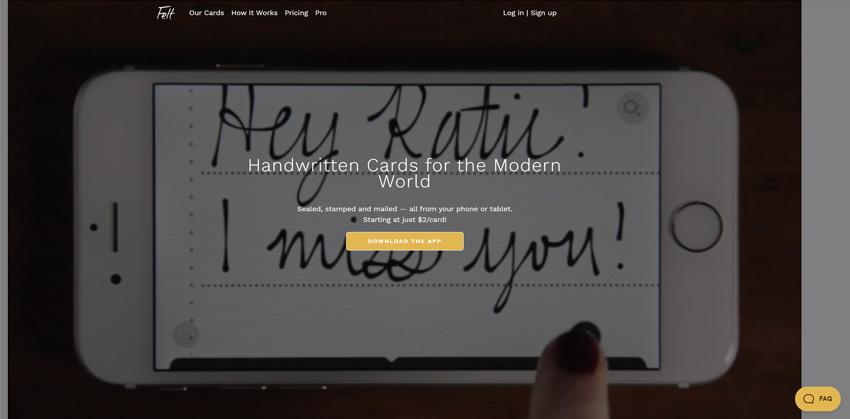 Felt Digitally Created Handwritten Cards