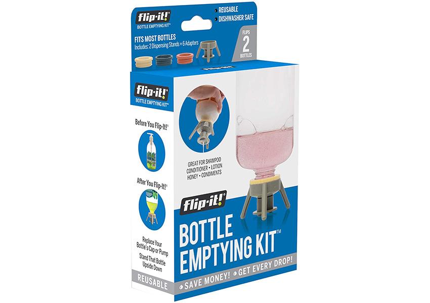 Flip It Cap Empties Bottles