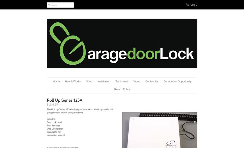 Garage Door Lock by ElockSys