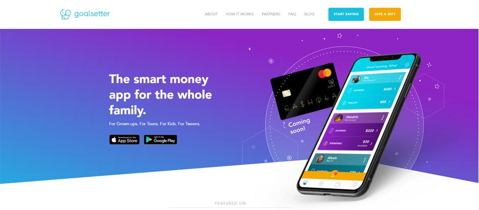 Goalsetter Savings App For Kids