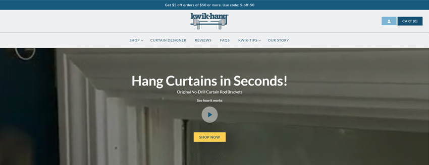 Kwik-Hang Curtain Rod Brackets