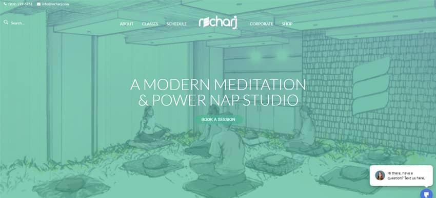 Recharj Meditation Napping Studio
