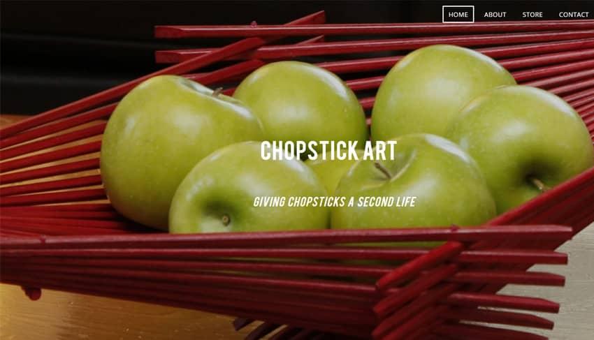 Recycled Chopstick Art