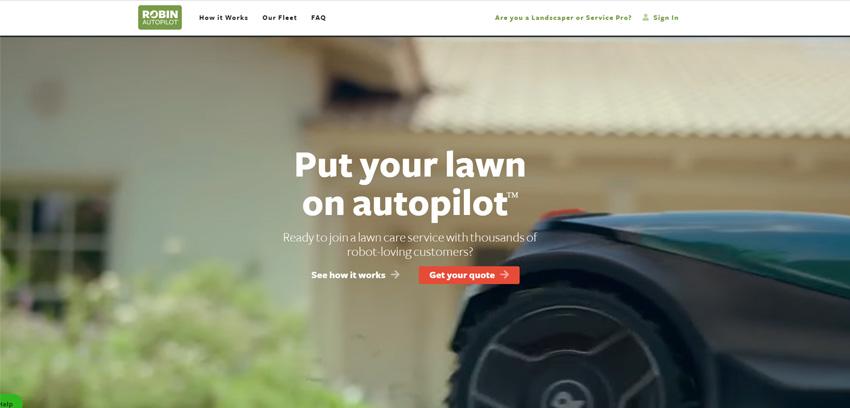 Robin Autopilot Lawn Mowing
