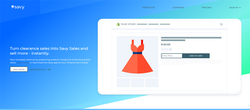 Savy Shopping App