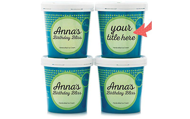 eCreamery Personalized Ice Cream Flavors