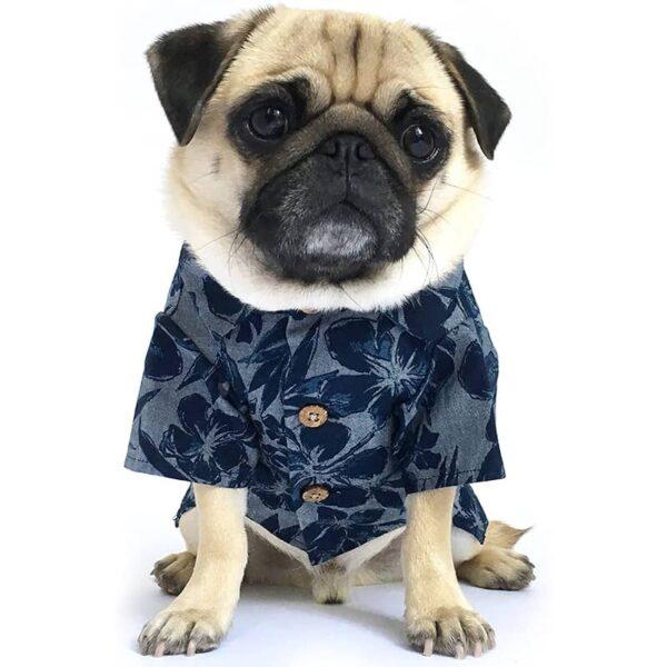 Dog Threads Cool Breeze BBQ Shirt Denim