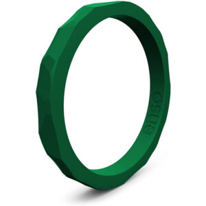 Enso Rings Hammered Stackable Silicone Ring