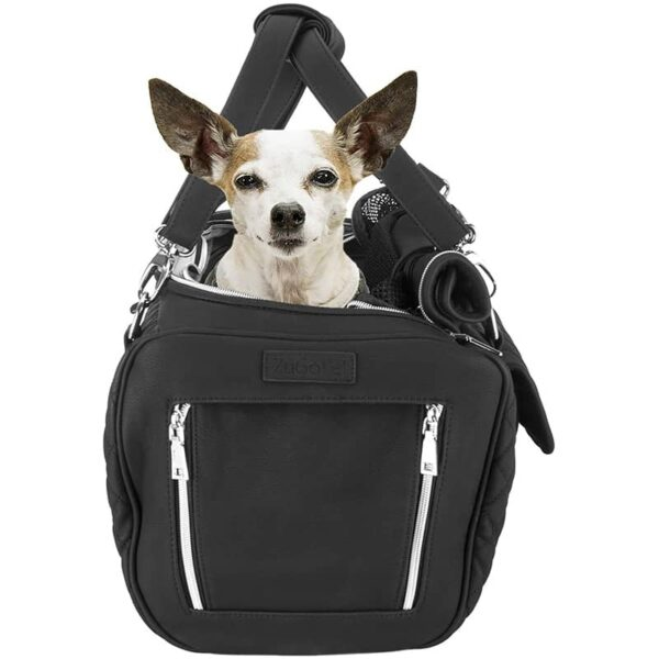 ZuGoPet Jetsetter Faux Leather Pet Carrier Handbag Purse